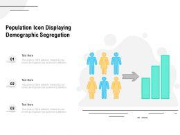 Population Icon Displaying Demographic Segregation