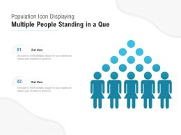 Population Icon Displaying Multiple People Standing In A Que