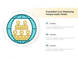 Population Icon Displaying People Inside Globe