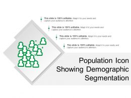 Population Icon Showing Demographic Segmentation