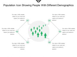 Population Icon Showing People With Different Demographics