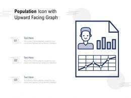Population Icon With Upward Facing Graph