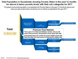 Population In Households Showing Poverty Status Past 12 Months Above And Below Poverty Levels Sub Categories 2017