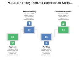 Population Policy Patterns Subsistence Social Stability Demographic Change
