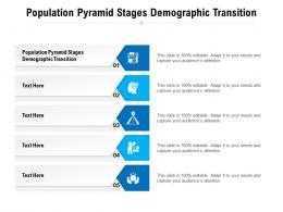 Population Pyramid Stages Demographic Transition Ppt Powerpoint Presentation Model Icon Cpb