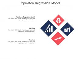 Population Regression Model Ppt Powerpoint Presentation Icon Vector Cpb