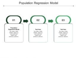 Population Regression Model Ppt Powerpoint Presentation Outline Icons Cpb