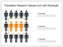Population Research Sample Icon With Rectangle