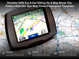 Portable GPS For A Car Sitting On A Map Break The Fetters With Our GPS Map Travel Template
