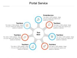 Portal Service Ppt Powerpoint Presentation Layouts Graphic Images Cpb
