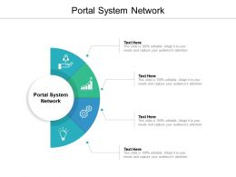 Portal System Network Ppt Powerpoint Presentation Layouts Gridlines Cpb