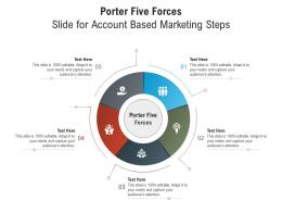 Porter Five Forces Slide For Account Based Marketing Steps Infographic Template