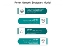 Porter Generic Strategies Model Ppt Powerpoint Presentation Slides Infographic Template Cpb