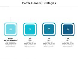 Porter Generic Strategies Ppt Powerpoint Presentation Show Background Image Cpb