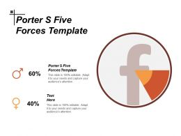 Porter S Five Forces Template Ppt Powerpoint Presentation Layouts Shapes Cpb