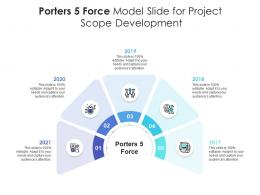 Porters 5 Force Model Slide For Project Infographic Template