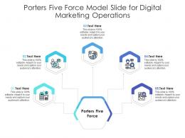 Porters Five Force Model Slide For Digital Marketing Operations Infographic Template