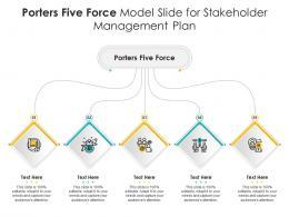 Porters Five Force Model Slide For Stakeholder Management Plan Infographic Template