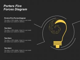 Porters Five Forces Diagram Ppt Powerpoint Presentation Infographic Template Examples Cpb
