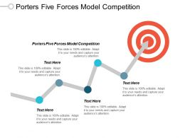 Porters Five Forces Model Competition Ppt Powerpoint Presentation Pictures Vector Cpb
