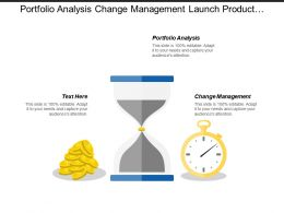 Portfolio Analysis Change Management Launch Product Iteration Planning