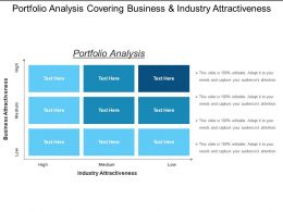 Portfolio Analysis Covering Business And Industry Attractiveness