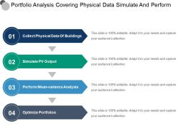 Portfolio Analysis Covering Physical Data Simulate And Perform