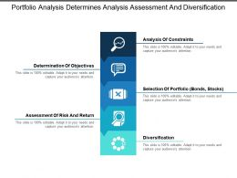 Portfolio Analysis Determines Analysis Assessment And Diversification