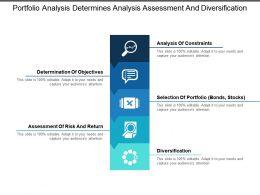 Portfolio Analysis Determines Analysis Assessment And Diversification