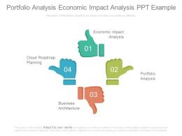 Portfolio Analysis Economic Impact Analysis Ppt Example