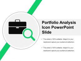 Portfolio Analysis Icon Powerpoint Slide