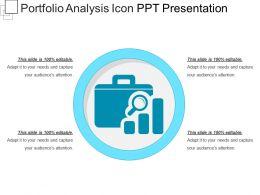 Portfolio Analysis Icon Ppt Presentation