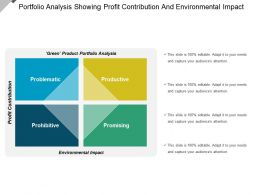 Portfolio Analysis Showing Profit Contribution And Environmental Impact