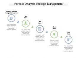 Portfolio Analysis Strategic Management Ppt Powerpoint Presentation Inspiration Cpb