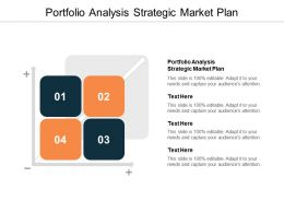 Portfolio Analysis Strategic Market Plan Ppt Powerpoint Presentation Pictures Gridlines Cpb