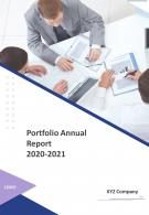Portfolio Annual Report PDF DOC PPT Document Report Template