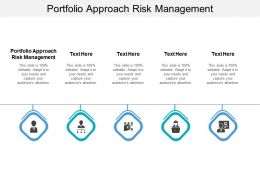 Portfolio Approach Risk Management Ppt Powerpoint Presentation Visual Aids Files Cpb