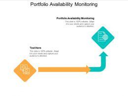 Portfolio Availability Monitoring Ppt Powerpoint Presentation Summary Smartart Cpb