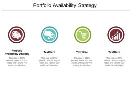 Portfolio Availability Strategy Ppt Powerpoint Presentation Ideas Influencers Cpb