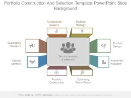 Portfolio Construction And Selection Template Powerpoint Slide Background