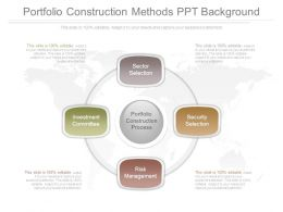 Portfolio Construction Methods Ppt Background
