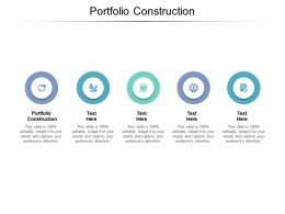 Portfolio Construction Ppt Powerpoint Presentation Ideas Portfolio Cpb