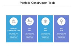 Portfolio Construction Tools Ppt Powerpoint Presentation Slides Influencers Cpb