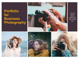 Portfolio For Business Photography Ppt Powerpoint Presentation Styles