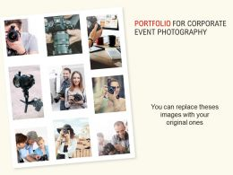 Portfolio For Corporate Event Photography Ppt Powerpoint Presentation Mockup