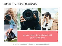 Portfolio For Corporate Photography Images Ppt Powerpoint Presentation Slides