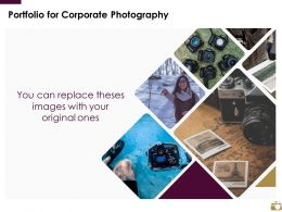 Portfolio For Corporate Photography Ppt Powerpoint Presentation Slides Structure