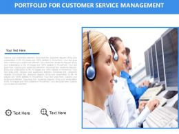 Portfolio For Customer Service Management Flat Powerpoint Design