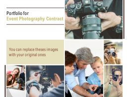 Portfolio For Event Photography Contract Ppt Powerpoint Presentation Icon