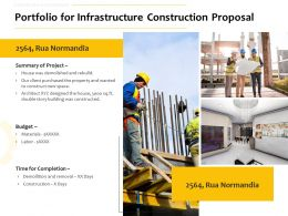 Portfolio For Infrastructure Construction Proposal Ppt Powerpoint Inspiration